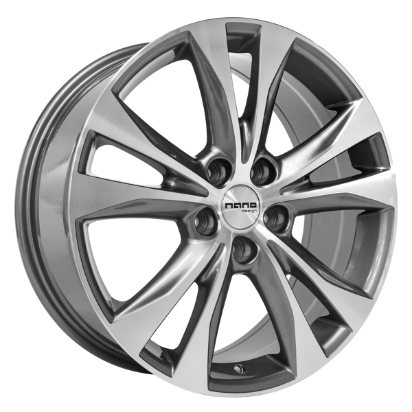 Nano BK970 Grey Polished 18X7.5 5x114.3 ET45 73